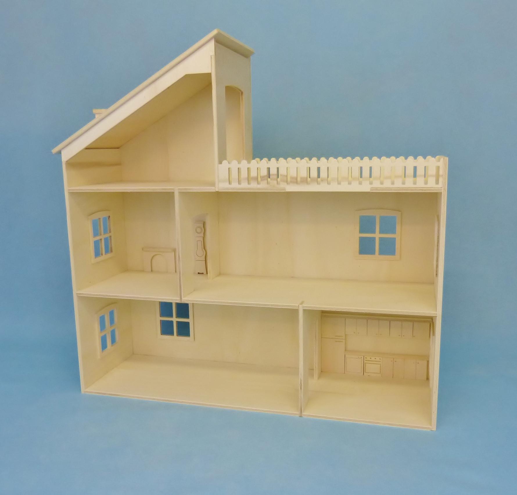 Maison de barbie en bois a construire - Maison a decorer ...