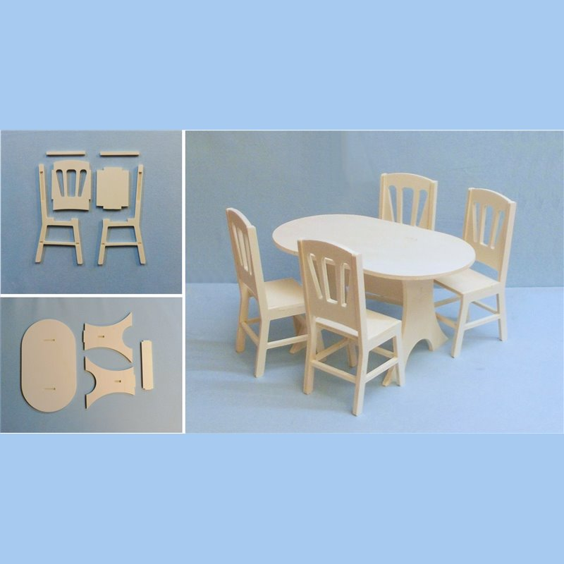 table 4 chaises en kit pour poup e mannequin ex barbies. Black Bedroom Furniture Sets. Home Design Ideas