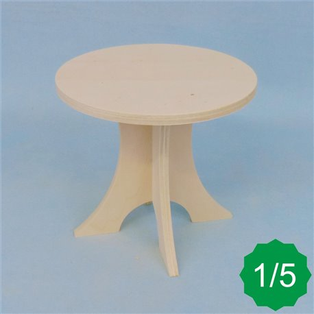 Table ronde 1/5ème en kit