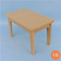 Table 1/6ème MDF en kit