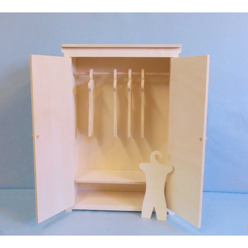 armoire penderie miniature pour poup e mannequin ex barbies. Black Bedroom Furniture Sets. Home Design Ideas