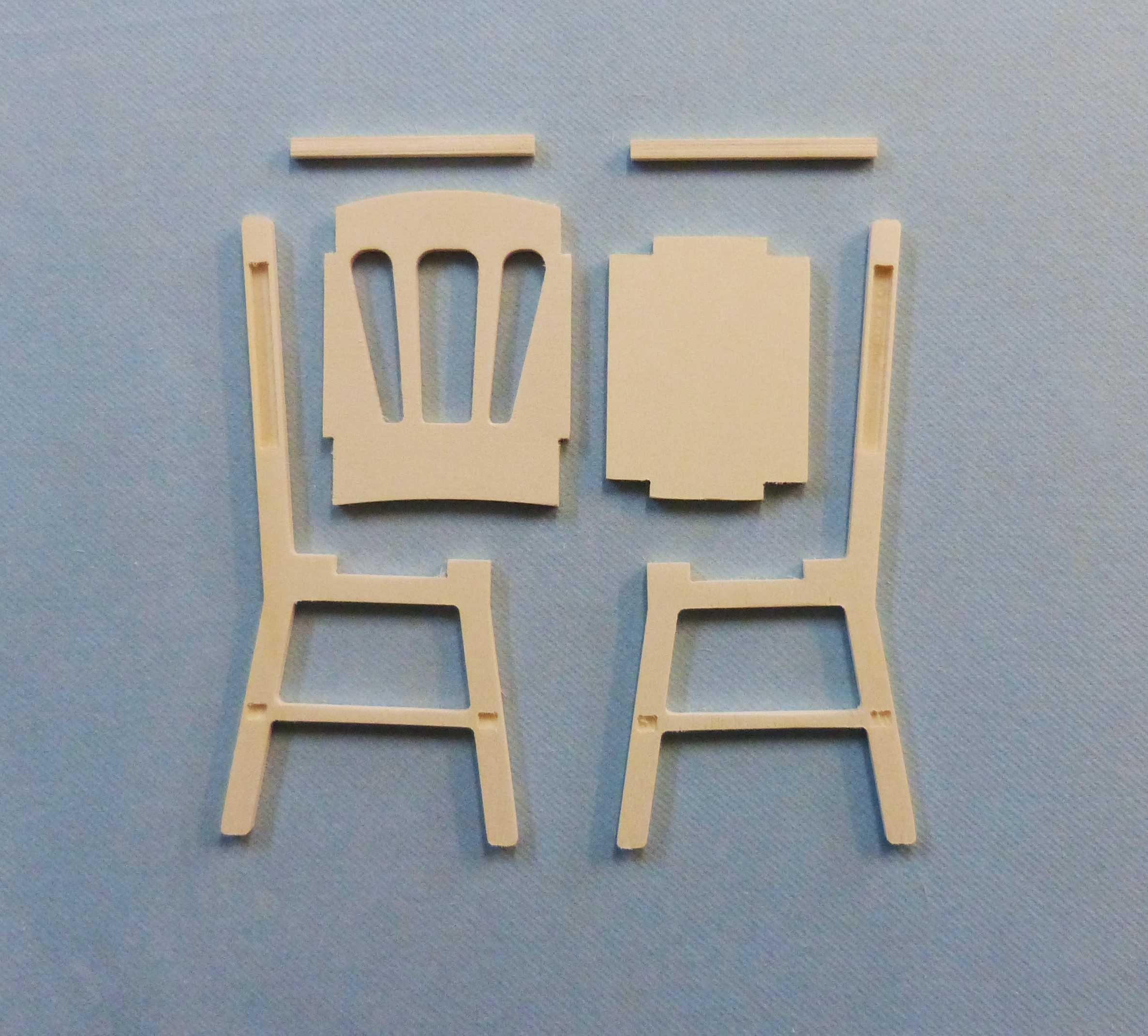 fabriquer une chaise miniature design la maison. Black Bedroom Furniture Sets. Home Design Ideas