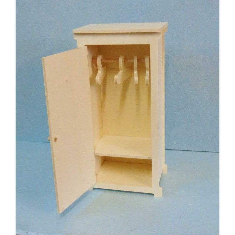 petite armoire penderie miniature en kit pour poup e. Black Bedroom Furniture Sets. Home Design Ideas
