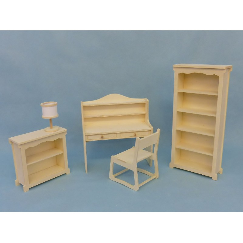 pack bureau avec tag res miniature pour poup e mannequin. Black Bedroom Furniture Sets. Home Design Ideas