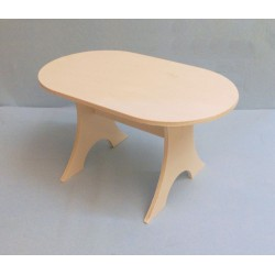 Table ovale miniature